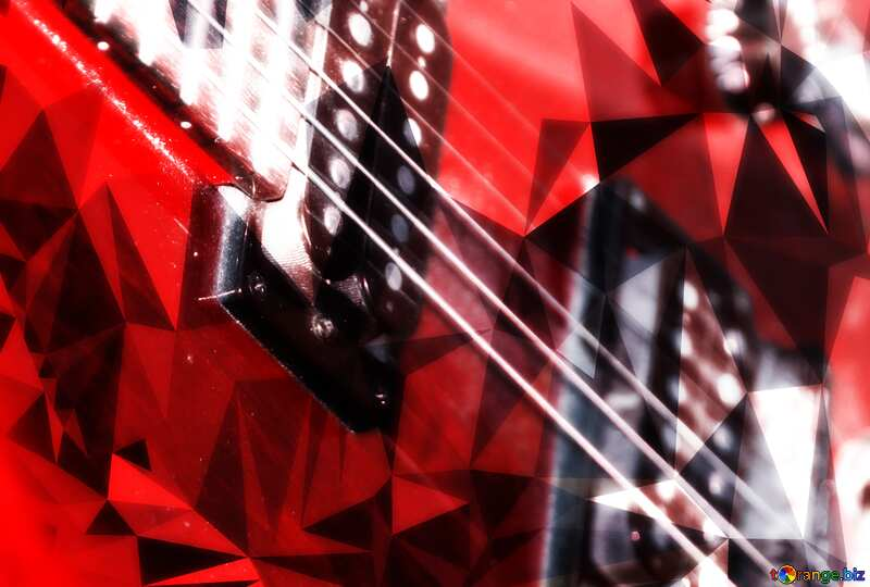 Guitar polygonal background №8656