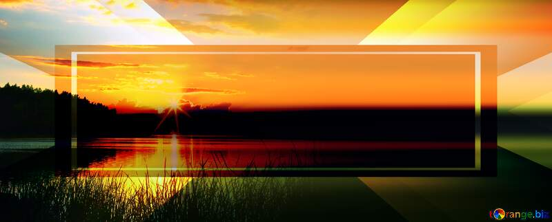 Evening landscape right side blur business background №36480