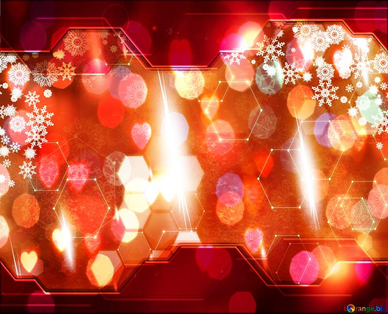Red Christmas Hi-tech background №40659