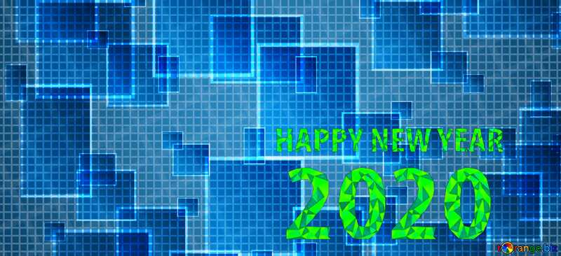 happy new year 2020 techno computer pattern №49678