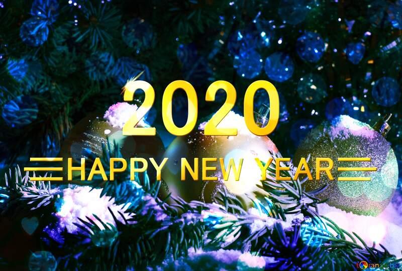 Shiny happy new year 2020 background №15370