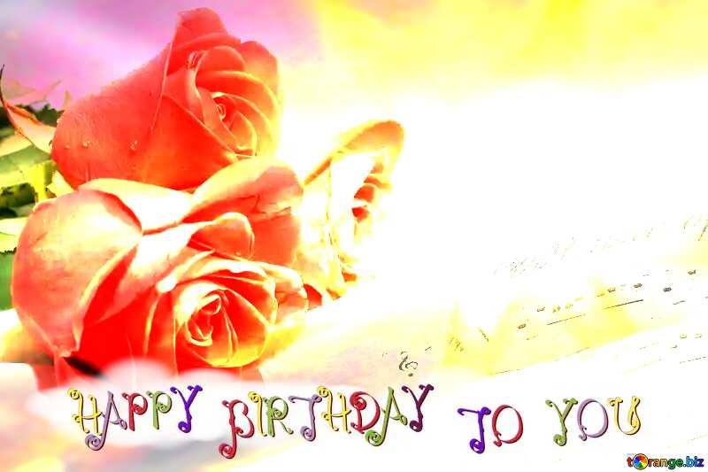 Postcard greetings music  happy birthday card №7255
