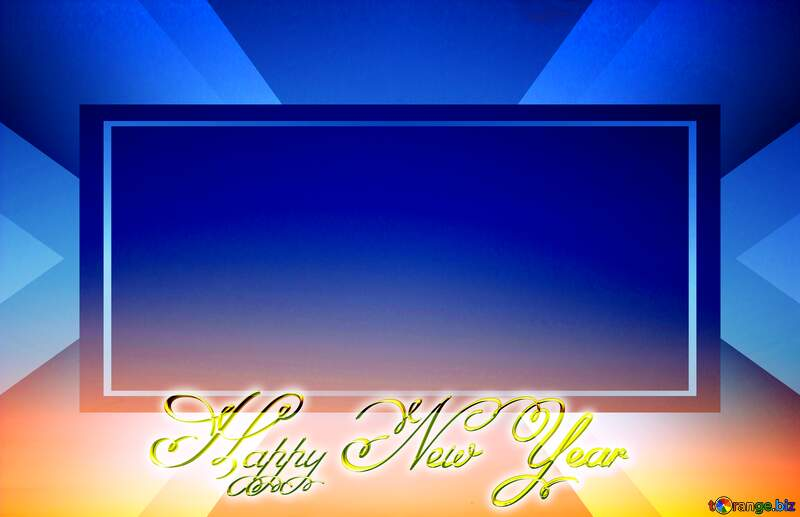 Sunset Gradient Inscription text Happy New Year layout design №16062