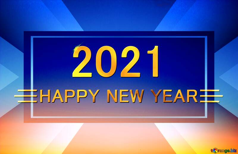 Sunset Gradient Shiny happy new year 2021 design layout business №16062