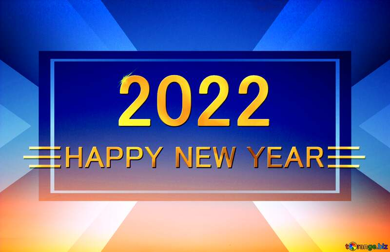 Sunset Gradient Shiny happy new year 2022 design layout business №16062