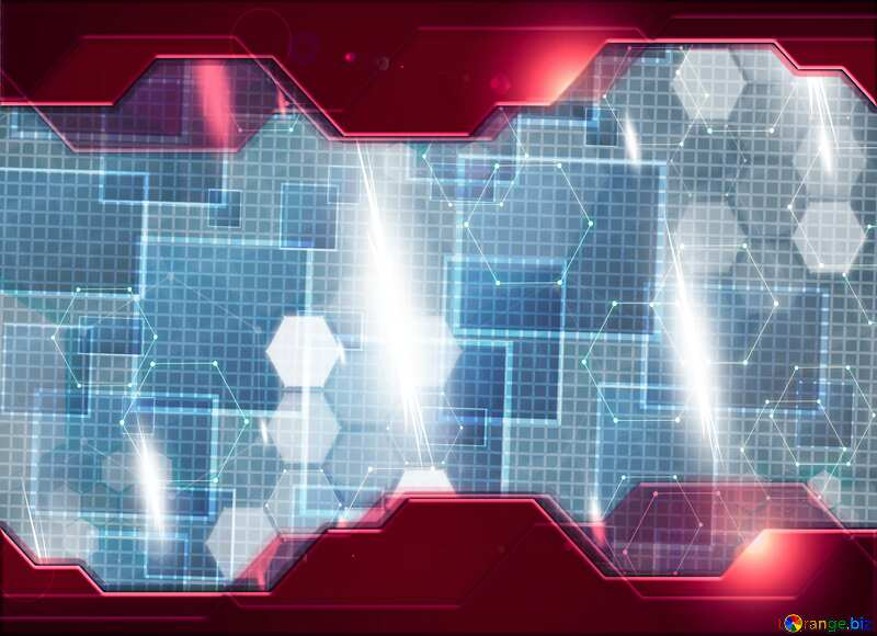 Technology tech abstract squares Information business concept Hi-tech background №49678