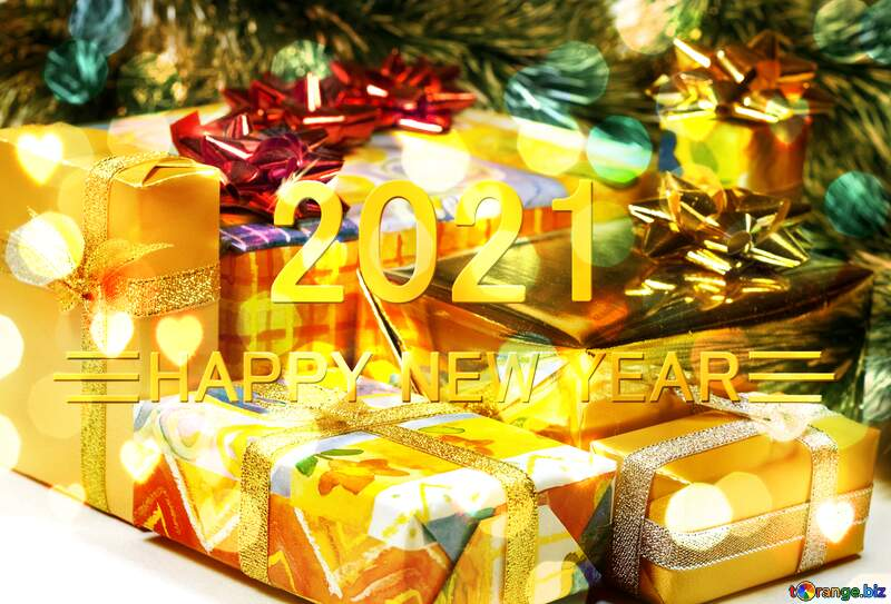 Gifts Christmas tree Happy New Year 2021 №6727
