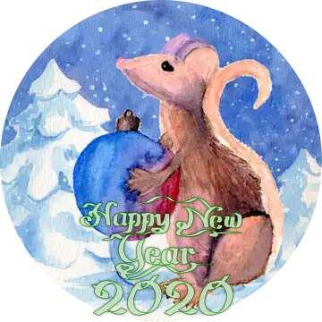 Frame circle. Happy New Year 2020.