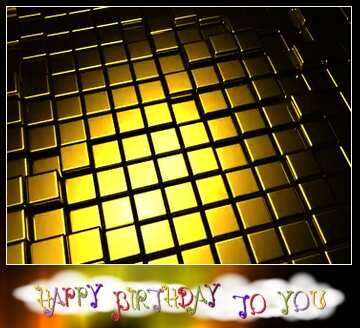 The effect of the dark. Vivid Colors. Blur dark frame. Happy Birthday card.