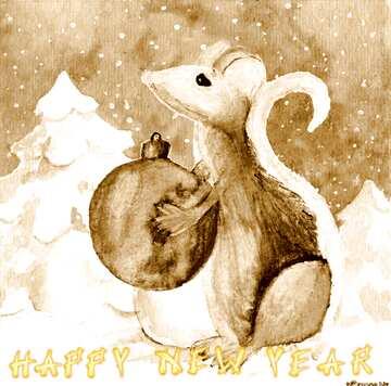 Эффект светлый. Эффект сепия. Card with text Happy New Year.