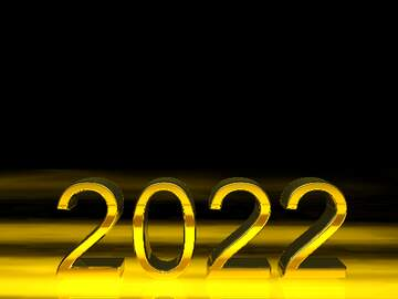 2021 3d render gold digits with reflections opacity dark background isolated