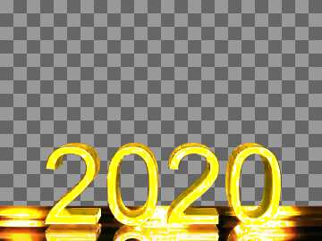 2020 3d render silver digits with reflections opacity dark background isolated