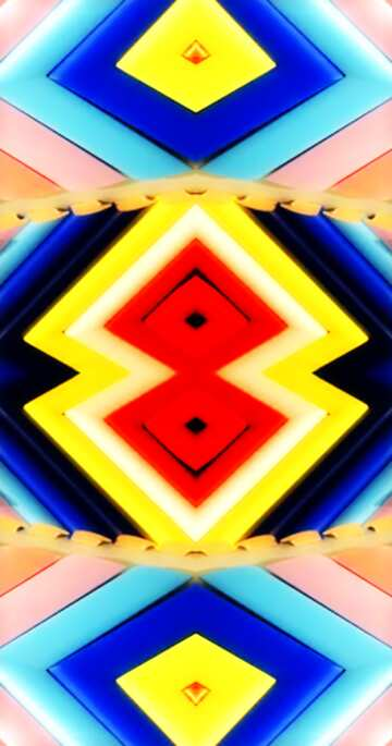 The effect of rotation. Very Vivid Colours. Fragment. Frame Pattern.