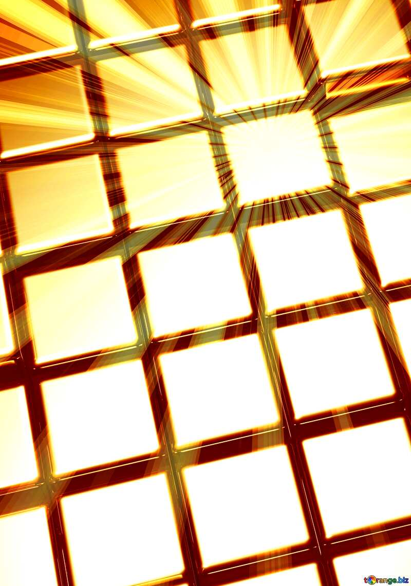 3d abstract gold metal cube background Art Banner Beautiful Rays №54498