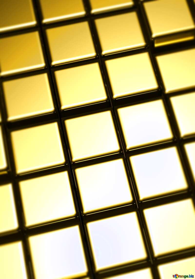 3d abstract gold meta big cube background Blur Frame №54498
