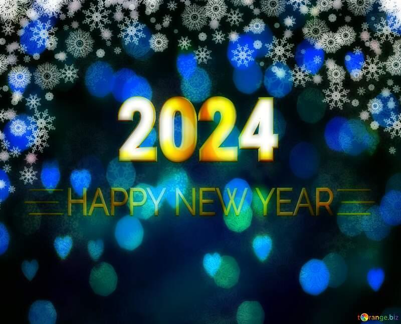 Blue dark Christmas background Shiny happy new year 2021 №40658