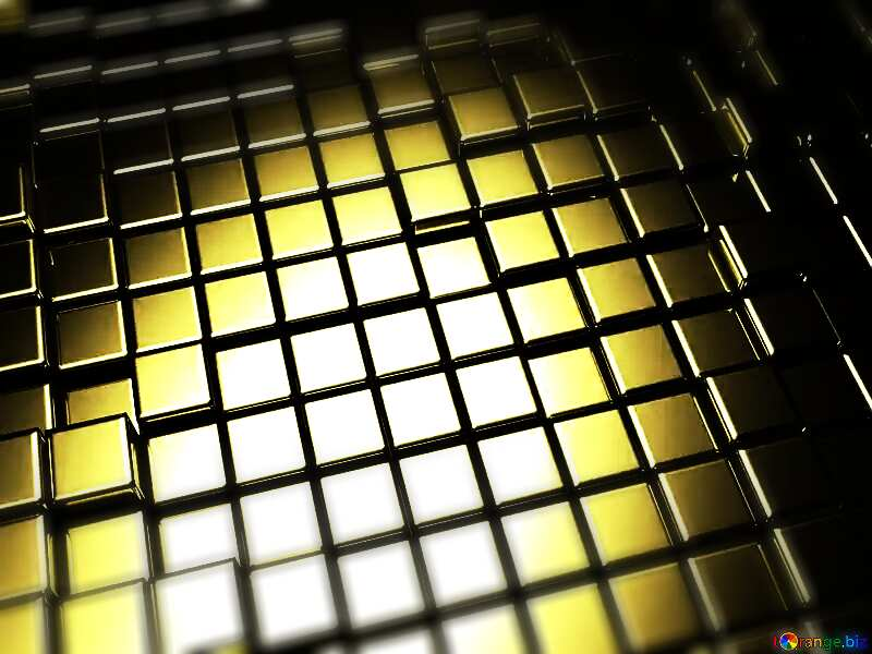 3d abstract gold metal cube background Effect Macro №54498