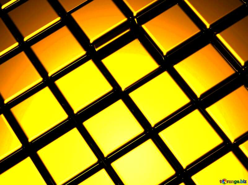 3d abstract gold metal cube background Electrical Foliage №54498