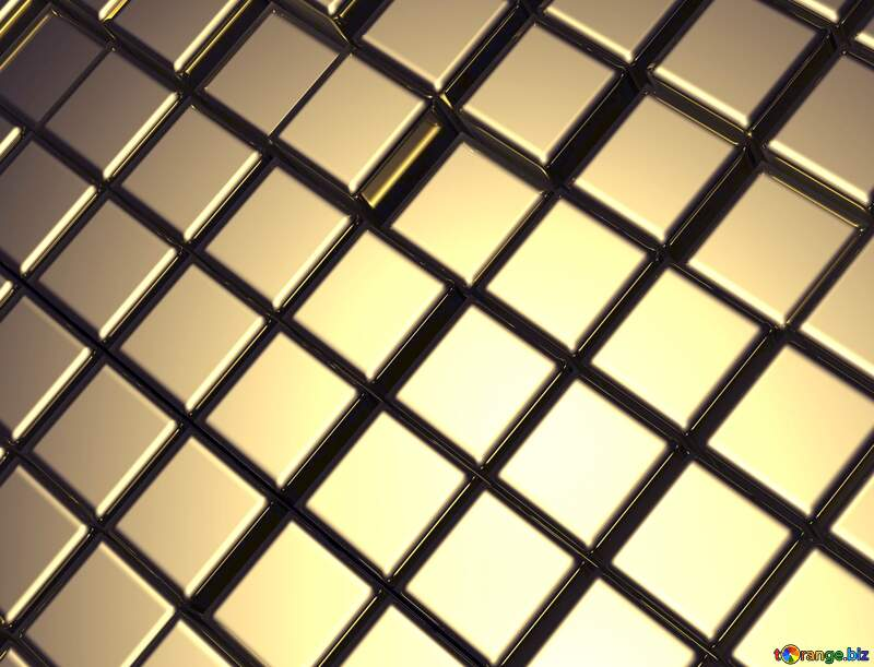 3d abstract metal cube background Fragment №54498