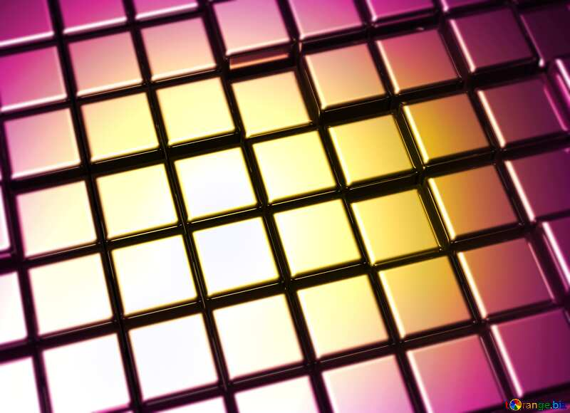 3d abstract gold metal cube background Frame Blur №54498