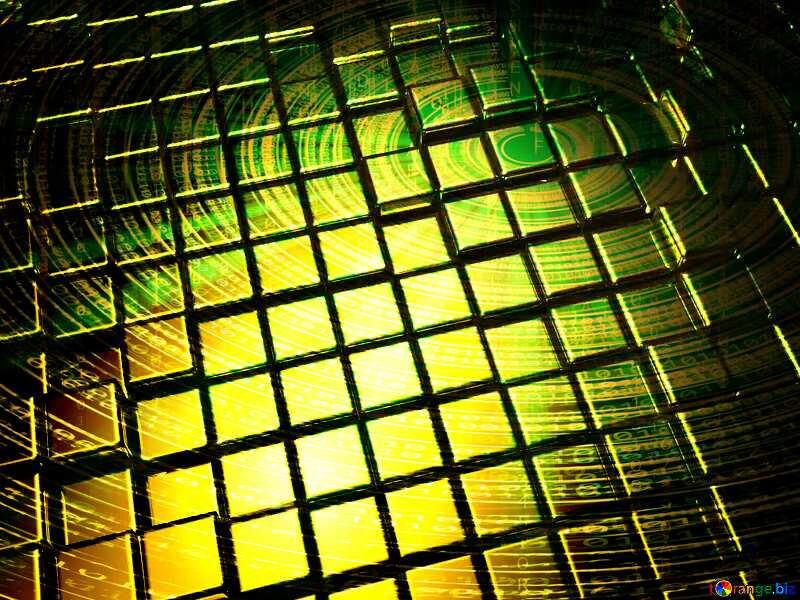 3d abstract gold metal cube background Futuristic Digital №54498