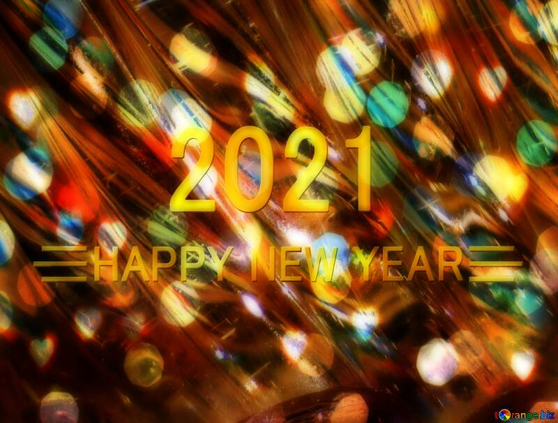 Glass happy new year 2021 background №18044