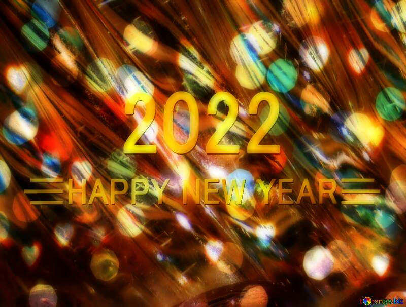 Glass happy new year 2022 background №18044