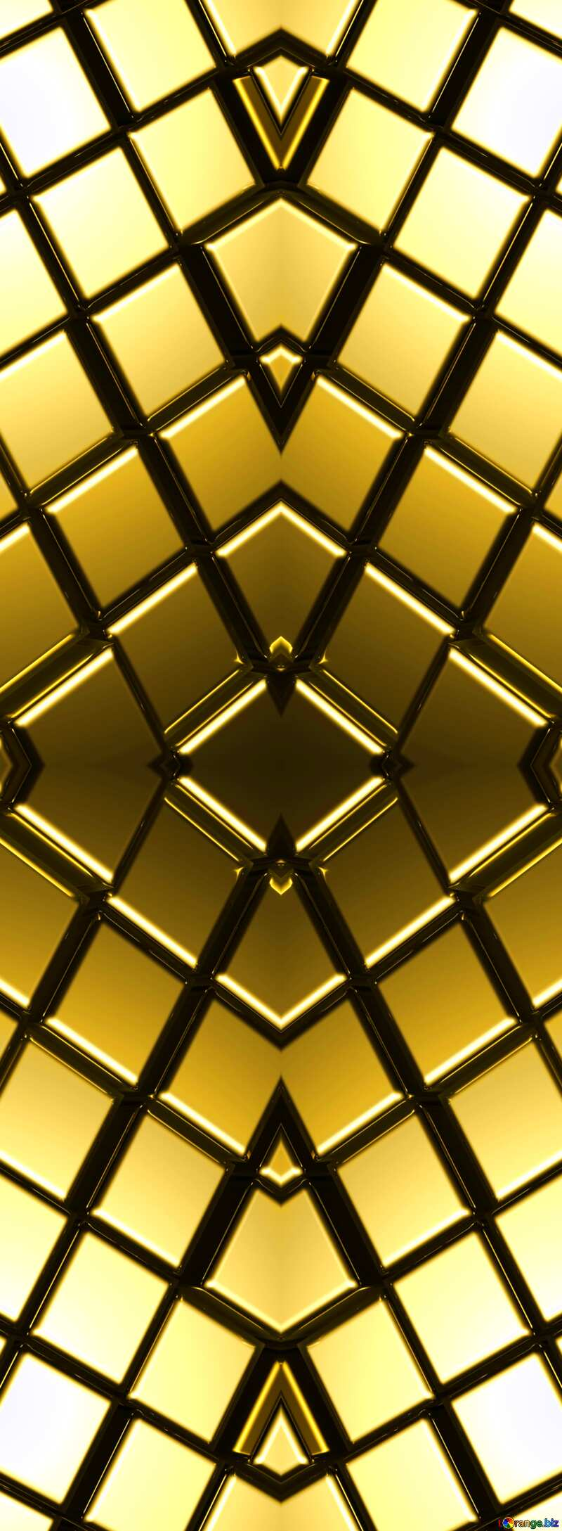 3d abstract gold metal cube background Pattern Computer №54498