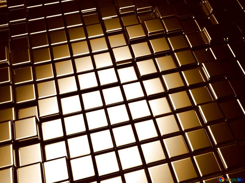 3d abstract metal cube background Beige Color №54498
