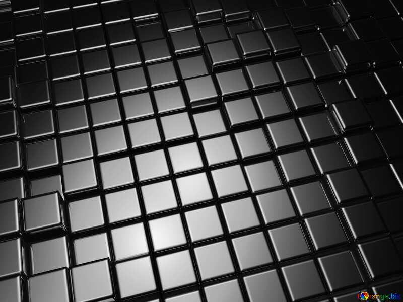 3d abstract metal cube background Black Monochrome White №54498