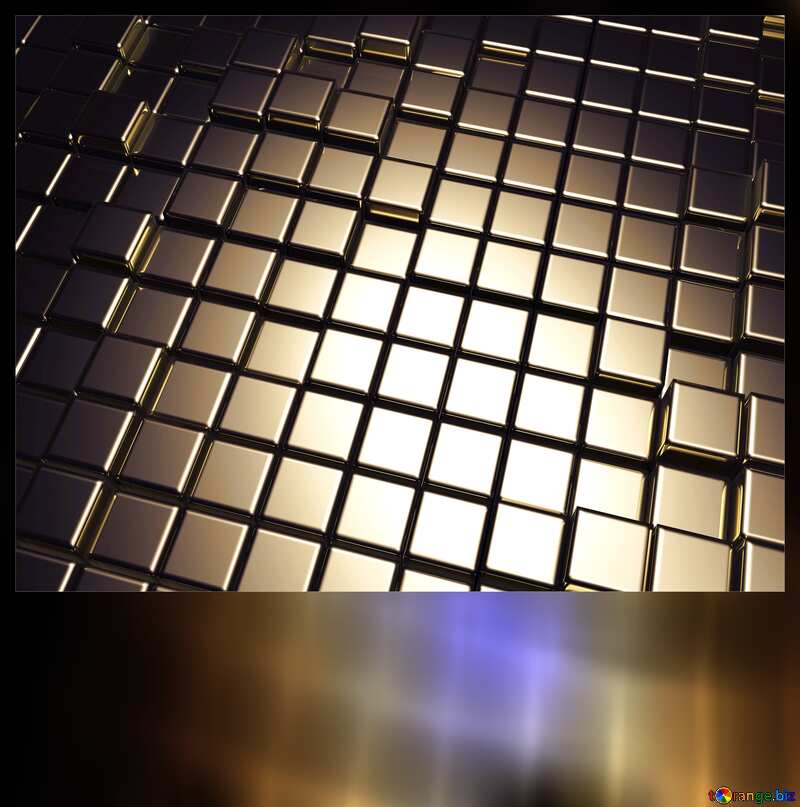 3d abstract metal cube background Blank Card Dark №54498