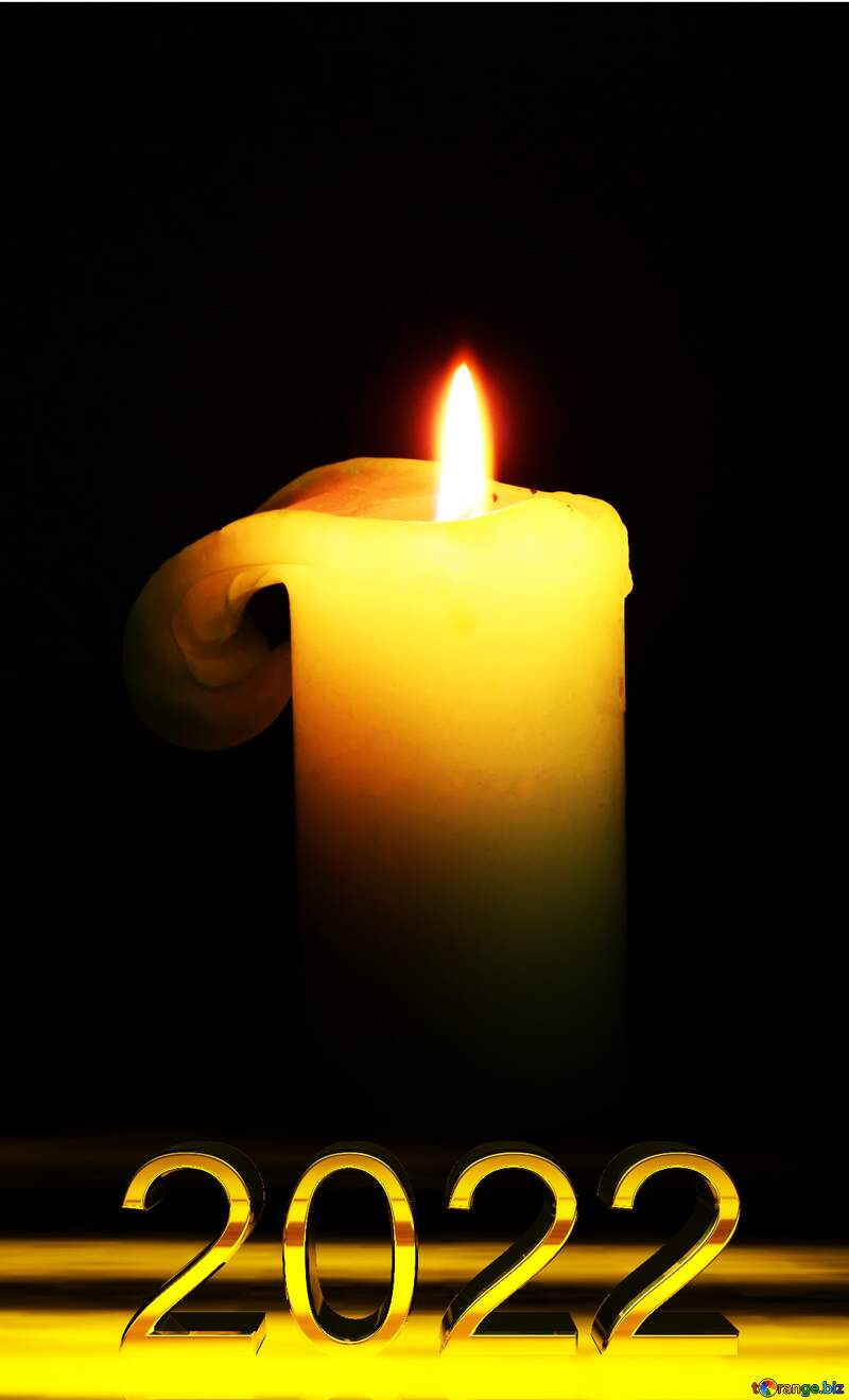 Burning candle 2021 №2390