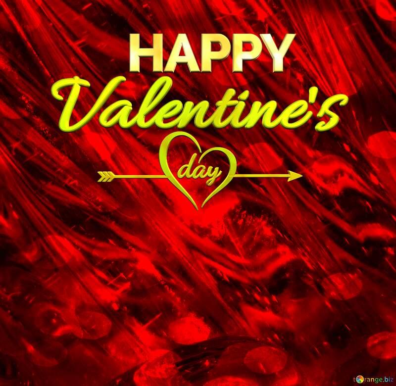 Glass happy valentines day background №18044