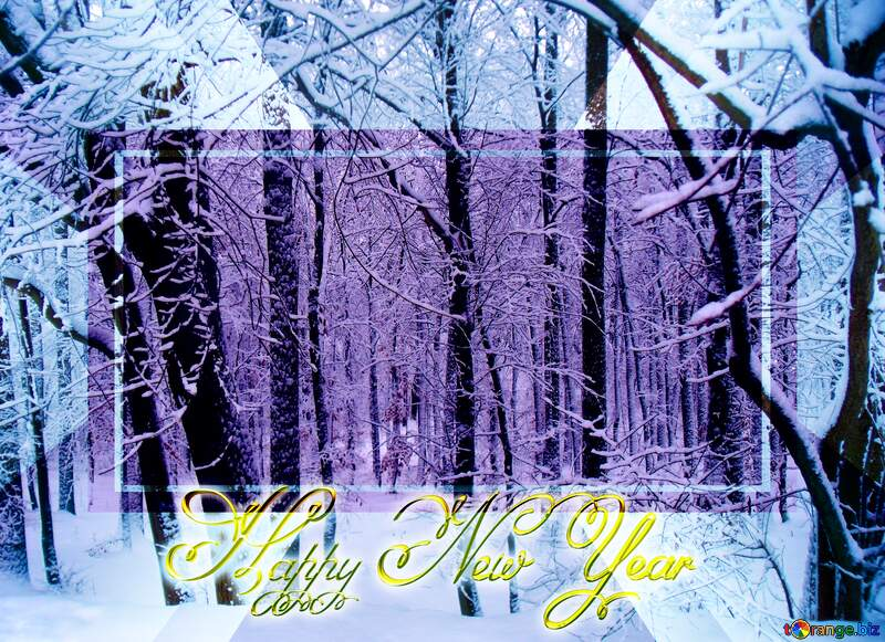 Winter  Forest  Happy New Year №10505