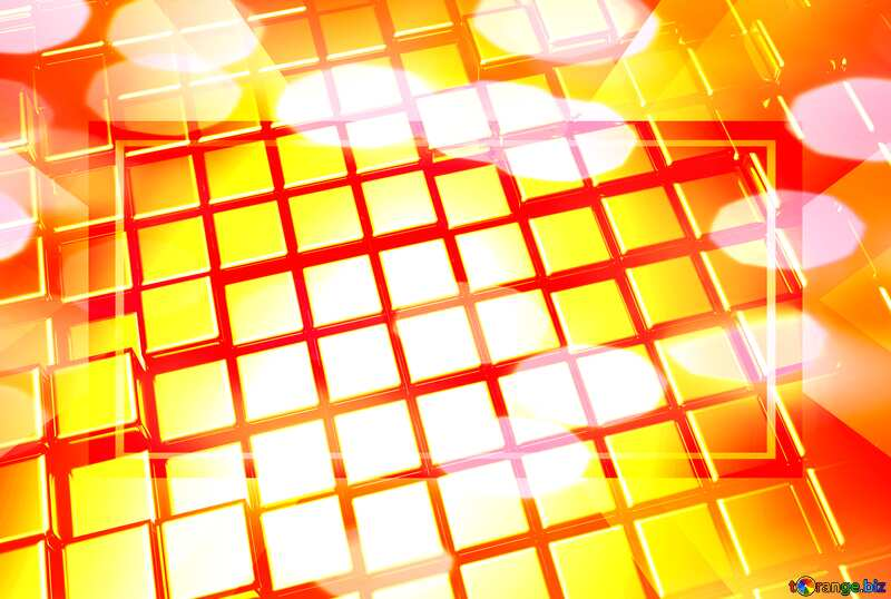 3d abstract gold metal cube background Banner Design Computer Digital Futuristic Template №54498