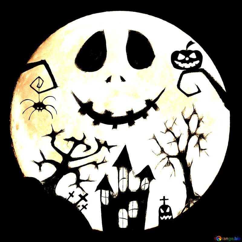 Halloween moon clip art №40468