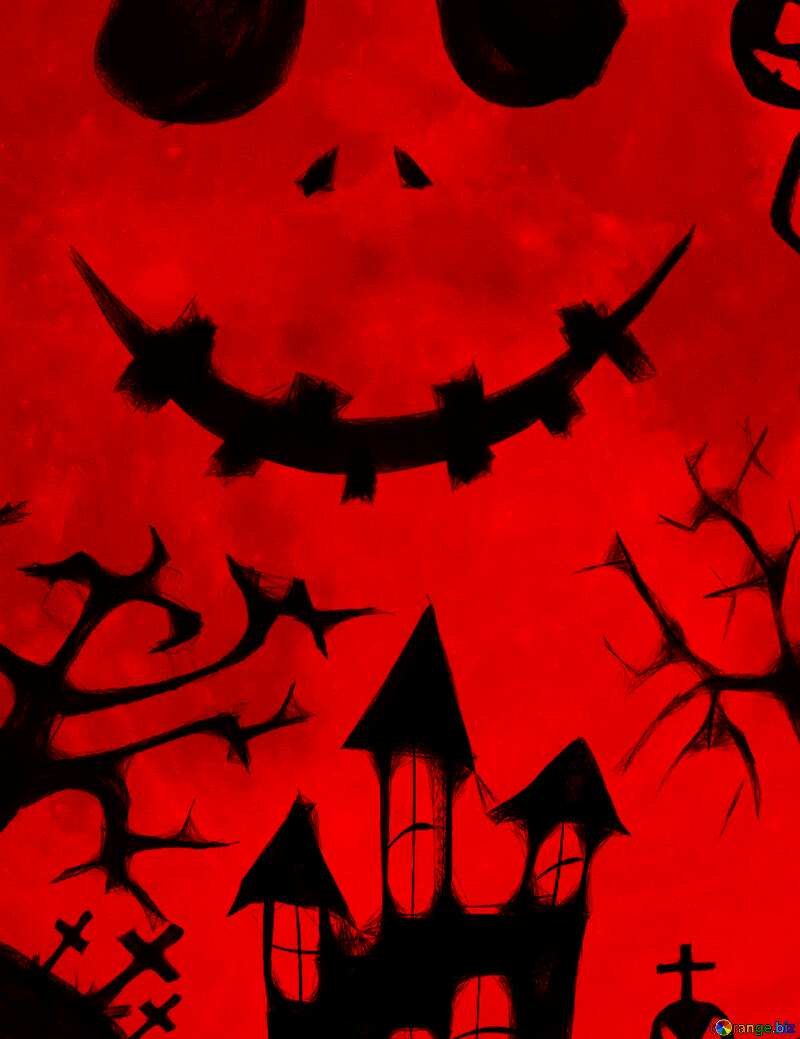 Halloween picture fragment red №40468