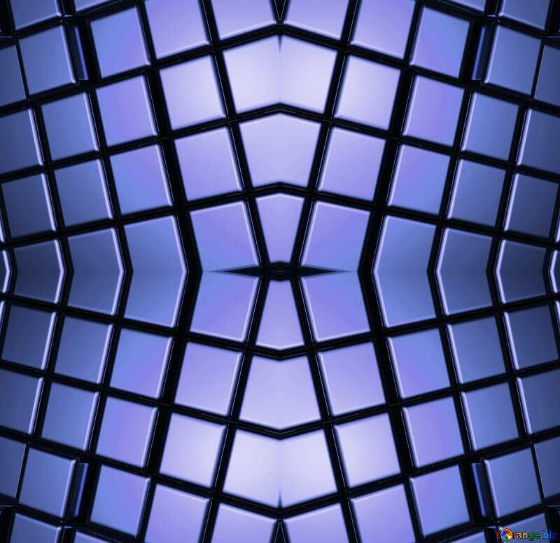 3d abstract metal cube background Blue Diesen Futuristic Pattern №54498