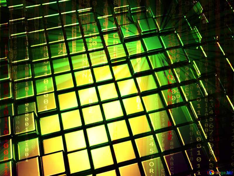 3d abstract gold metal cube background Digital Digitizing Matrix Style №54498