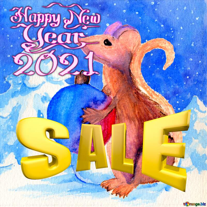 Chinese new year 2021 rat Christmas Sales Winter goods banner. №54497