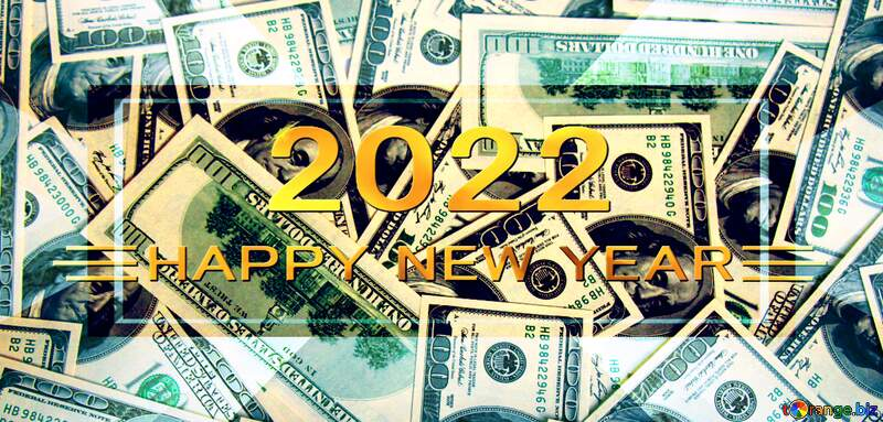 Dollars happy new year 2021 background №1506
