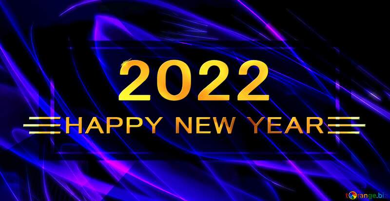 happy new year 2021 background beautiful fractal blue №40620
