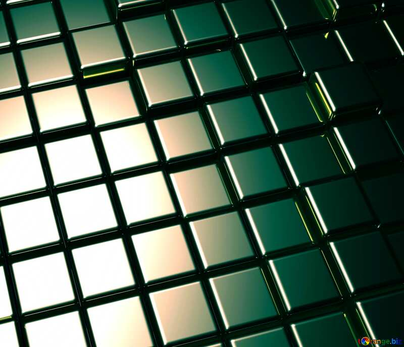 3d abstract metal cube background Fragment Toned №54498
