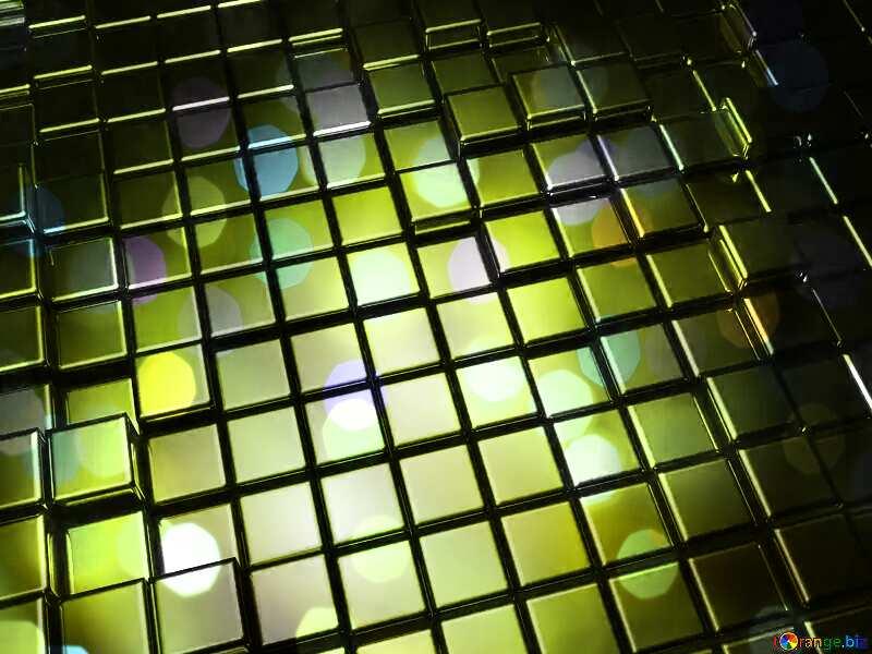 3d abstract gold metal cube background Beautiful Bokeh Futuristic Light Lights Texture №54498