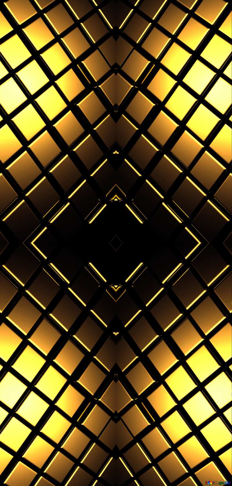 3d abstract gold metal cube background Brick Chaos Geometric Rendering Shape Pattern №54498
