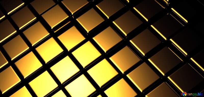 3d abstract gold metal cube background Fragment Geometric Illustration Rendering Technology №54498