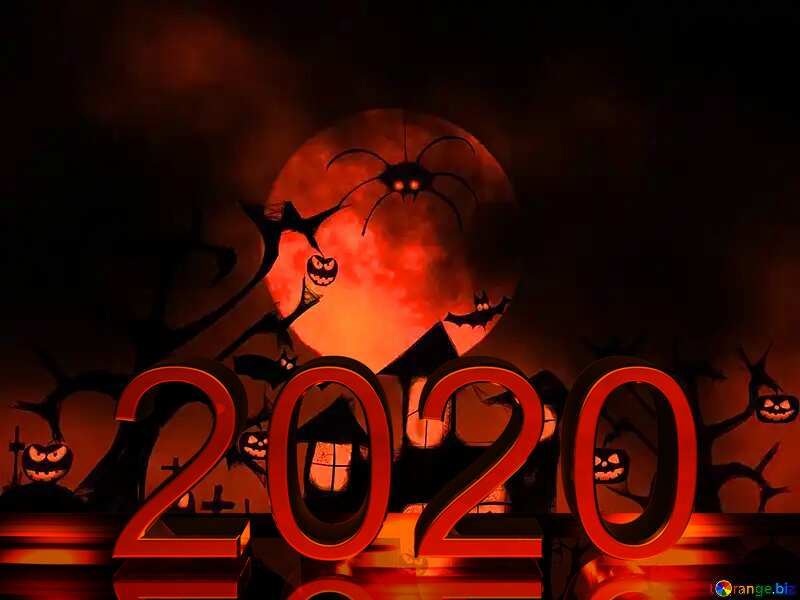 Halloween 2020  red metal digits №40470