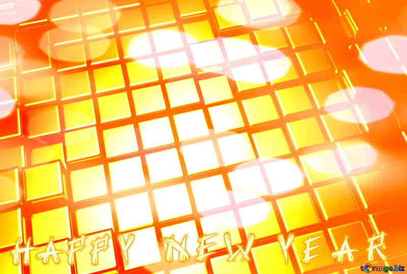 3d abstract gold metal cube background Happy New Year №54498