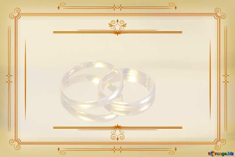 Engagement gold rings  Vintage frame retro clip art №7143
