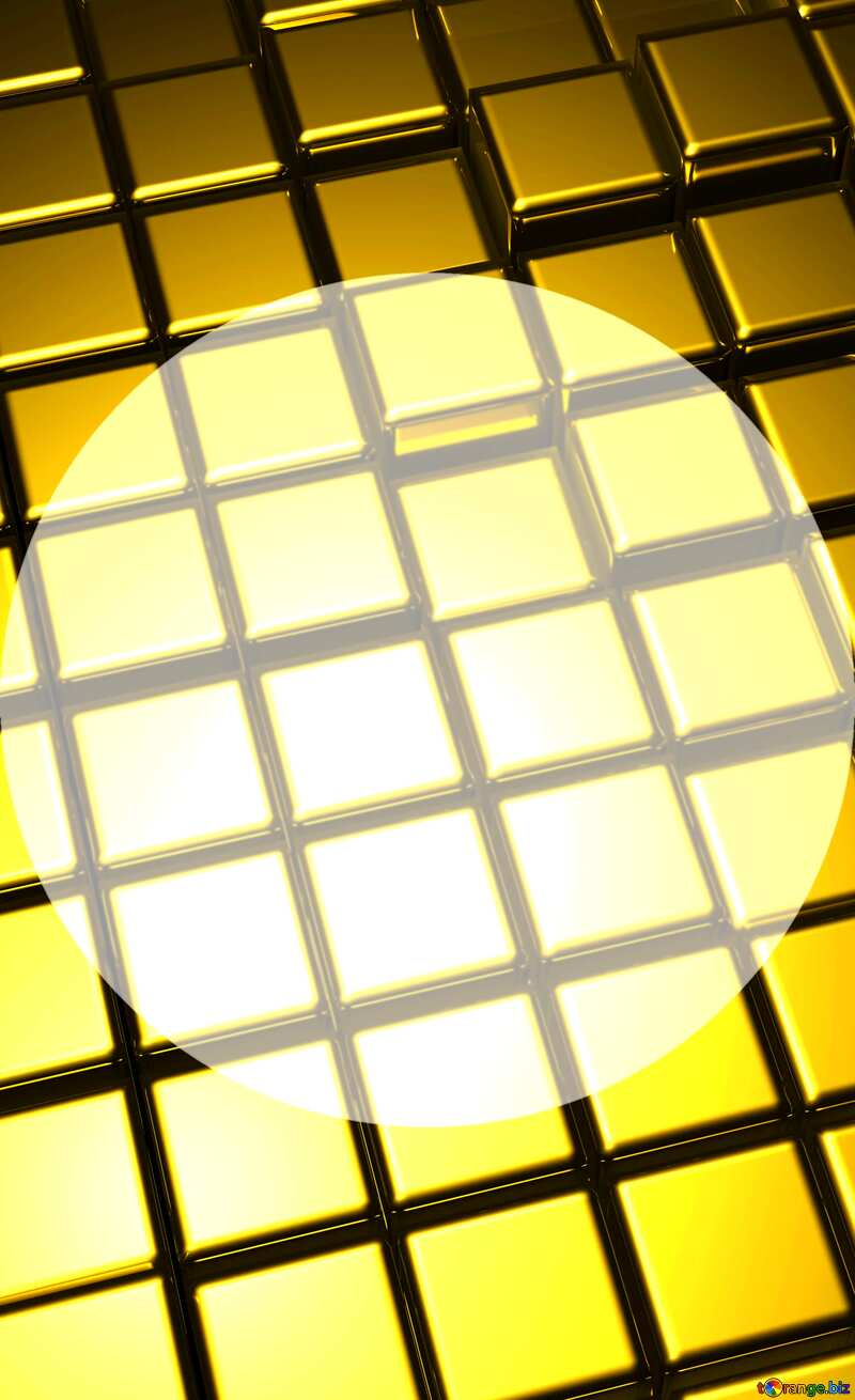 3d abstract gold metal cube background Infographic Presentation Template vertical №54498